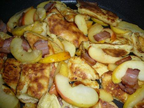 Apfel-Speck-Schmarren
