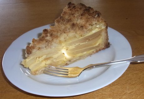 Apfel-Streusel-Kuchen mit Rahmguss