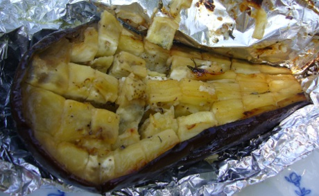 gegrillte Aubergine