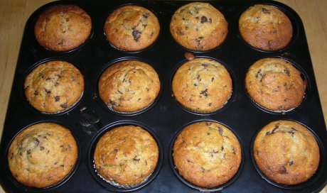 rezept bananen schoko muffins genial lecker. Black Bedroom Furniture Sets. Home Design Ideas