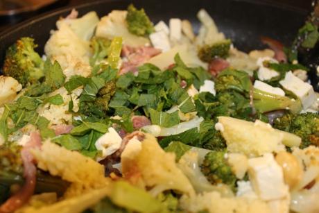 Blumenkohl-Broccoli-Pfanne
