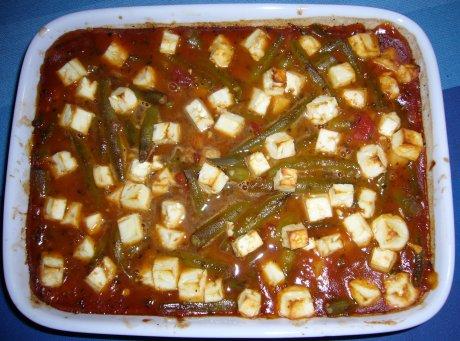 Bohnen-Tomaten-Auflauf