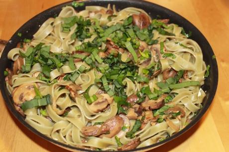 Champignon-B�rlauch-Pasta