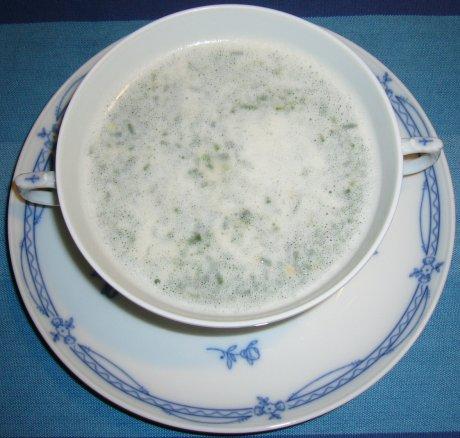 Crèmesuppe aus Räucherfisch
