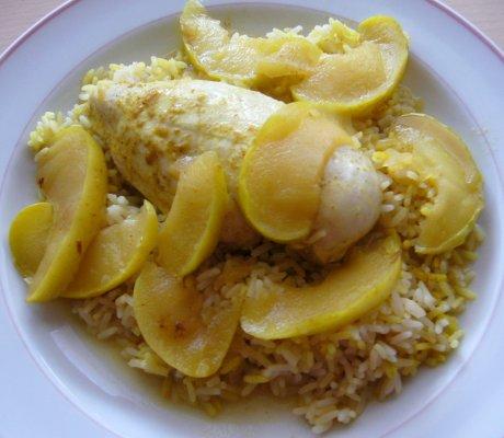 Curry-H�hnchen mit Apfelgem�se