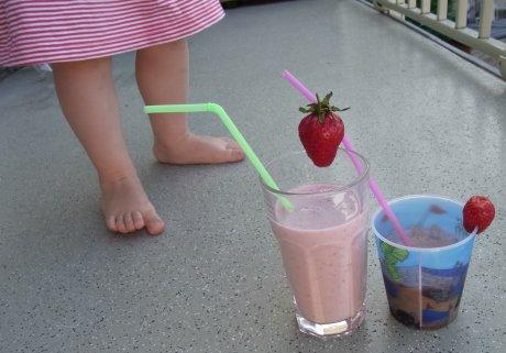 Erdbeer-Bananen-Milchshake