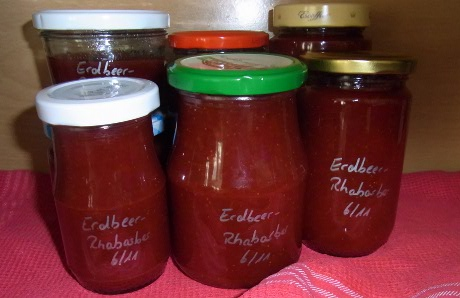 Erdbeer-Rhabarber-Marmelade