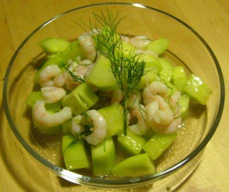 Gurken-Garnelen-Salat
