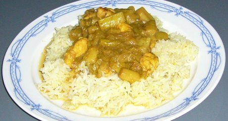 H�hnchen-Rhabarber-Curry