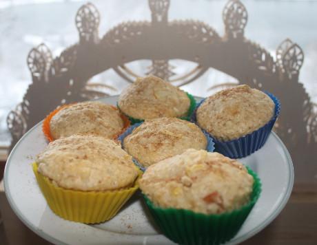 Haferflocken-Apfel-Muffins