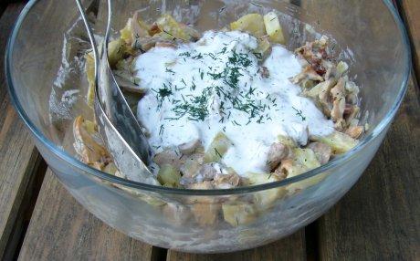 Kartoffelsalat mit Pilzen