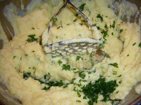 Kartoffelstampf mit Creme fraiche