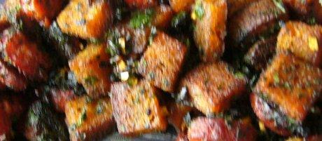 Knoblauchbrot mit Chorizo