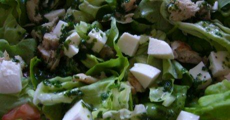 Kopfsalat mit Kr�utervinaigrette