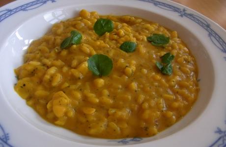Kürbisrisotto mit gegrilltem Mais