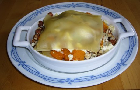 geschichtete Krbislasagne