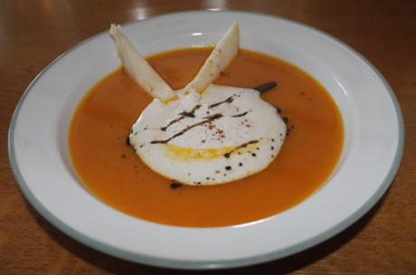 Kürbissuppe mit Birne