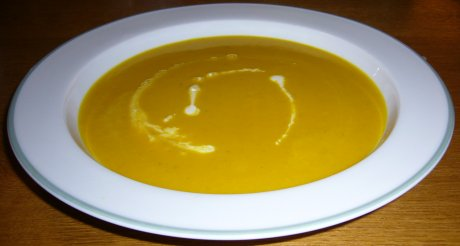 K�rbissuppe mit Curry