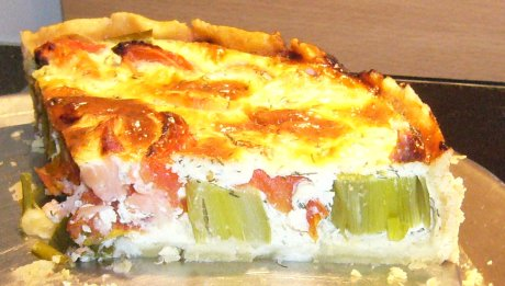 rezept lachs lauch quiche genial lecker. Black Bedroom Furniture Sets. Home Design Ideas
