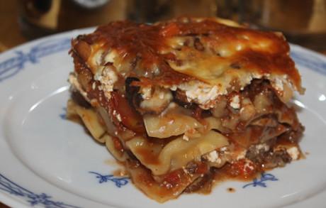 Lasagne mit Pilzen