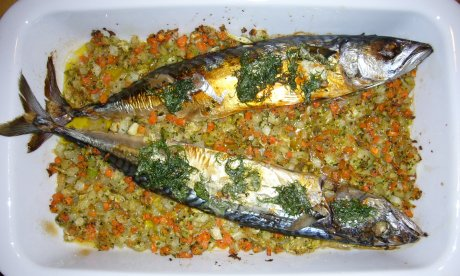 gefüllte Makrele