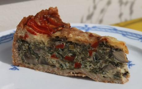 Mangold-Pilz-Quiche