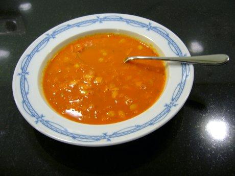 M�hrensuppe mit Apfel