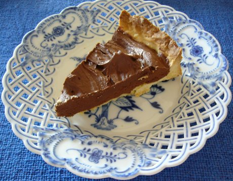 Nougat-Schokoladen-Tarte