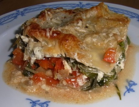Paprika-Mangold-Lasagne