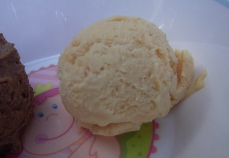 Pfirsich-Sahne-Eis