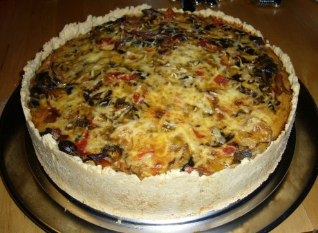 Pilz-Lauch-Quiche