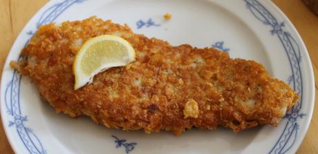 Putenschnitzel mit Cornflakespanade