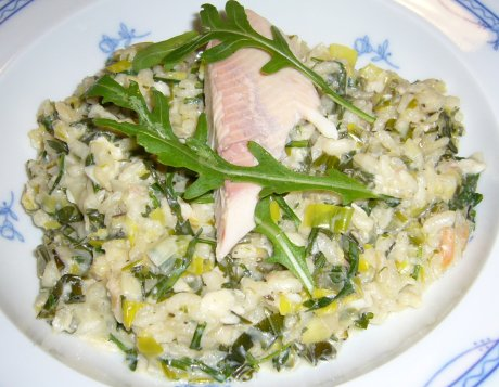 Rucherfisch-Risotto