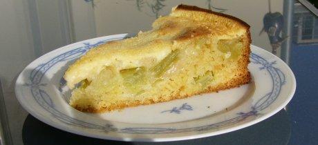 Rhabarberkuchen mit saurer Sahnehaube