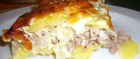 Sauerkraut-Kartoffelauflauf in Queransicht