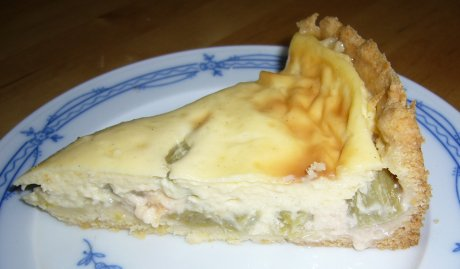 Schmandkuchen mit Rhabarber