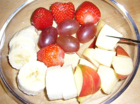 Schokofondue Obstteller