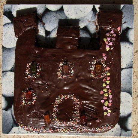 Schokoladenkuchen-Schloss