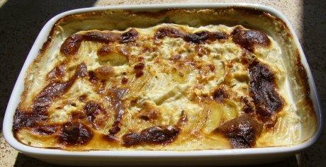 Schweizer Kartoffel Birnen-Gratin