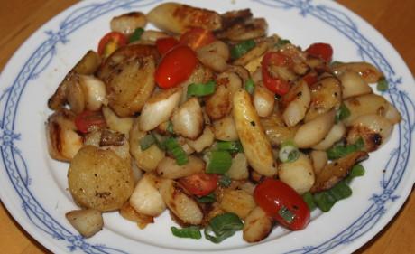 Spargel-Bratkartoffel-Pfanne