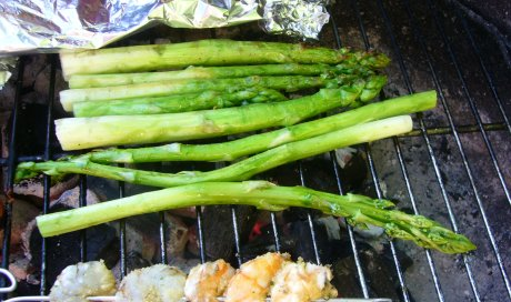 gegrillter grner Spargel