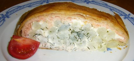 Spargel-Lachs-Strudel