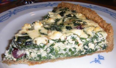 Spinat-Erdnuss-Tarte mit Cranberries