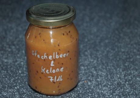Stachelbeer-Melonen-Marmelade