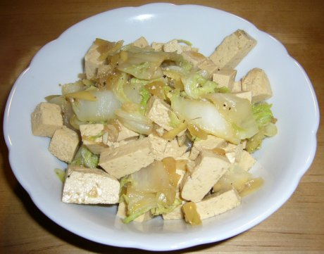 Tofu mit Chinakohl
