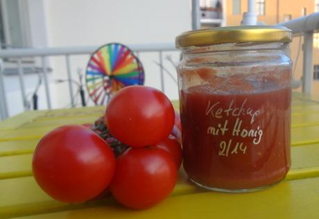 Tomatenketchup mit Honig