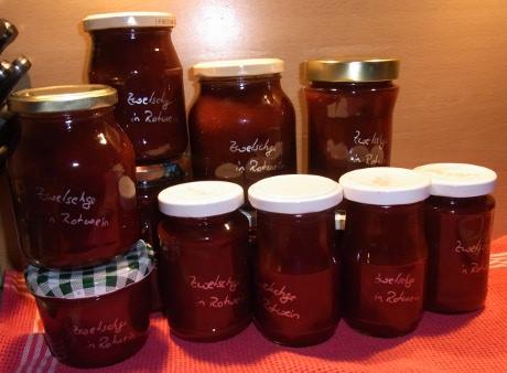 Zwetschgen-Rotwein-Marmelade